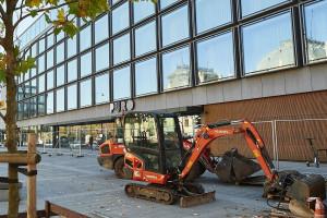 Wystartowała przebudowa placu przed hotelem PURO Łódź